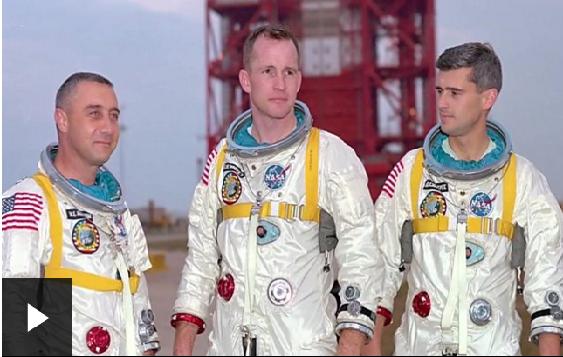 Grus Grissom, Edward White y Roger Chaffee se embarcaron en una peligrosa misión, llamada Apolo 1.