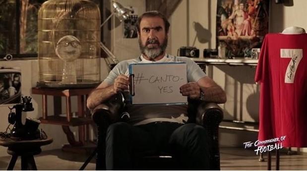 Eric Cantona, exjugador de la selección de Francia, se autoproclamó candidato para dirigir a Inglaterra. (Foto Prensa Libre:twitter )