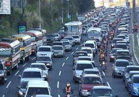 Con el libramiento de la Carretera a El Salvador a la Carretera al Atlántico se busca agilizar el tránsito en la ciudad capital. (Foto, Prensa Libre: Hemeroteca PL)