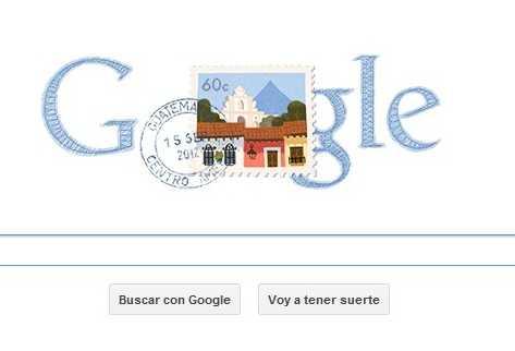 Google recuerda a Guatemala en su dia de Independencia.
