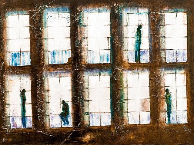 La pieza Postal Testigo es parte de la reciente muestra de Samayoa.