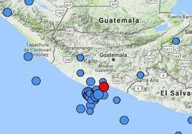 Esta es la ubicación del epicentro del temblor. (Fuente: Insivumeh)