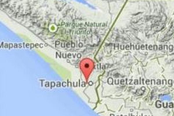 """<p>Ubicación del sismo de 5.5 grados de este domingo. (Imagen: Conred/Insivumeh)<br _mce_bogus=""""1""""></p>"""