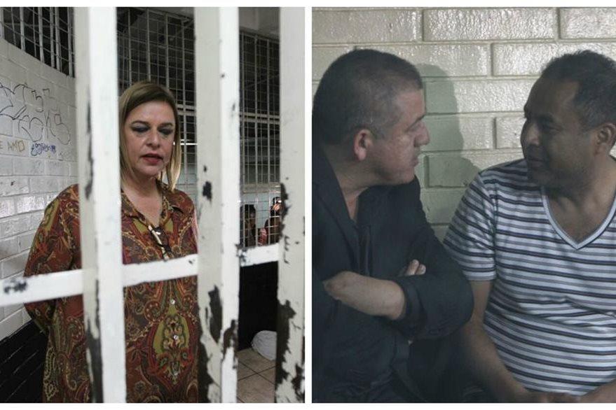 Anahy Keller, Carlos Rodas y Santos Torres en las carceletas. (Foto Prensa Libre: Érick Ávila).
