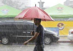 La época de invierno causará lluvia en todo el territorio. (Foto Prensa Libre: Hemeroteca PL)