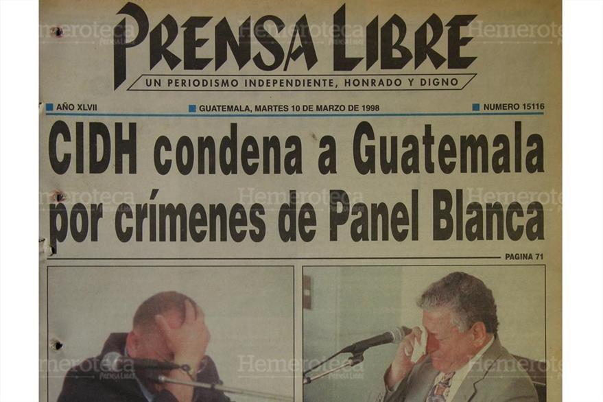 10/03/1998 Guatemala es condenada por la CIDH por crímenes de la Panel Blanca. (Foto: Hemeroteca PL)