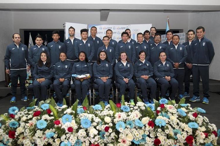 Atletas guatemaltecos furon juramentados para los Juegos Bolivarianos. (Foto Prensa Libre: Norvin Mendoza)