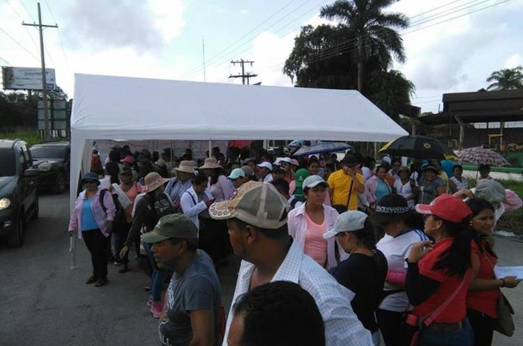 Manifestación en el km 292 de la ruta al Atlántico, Izabal