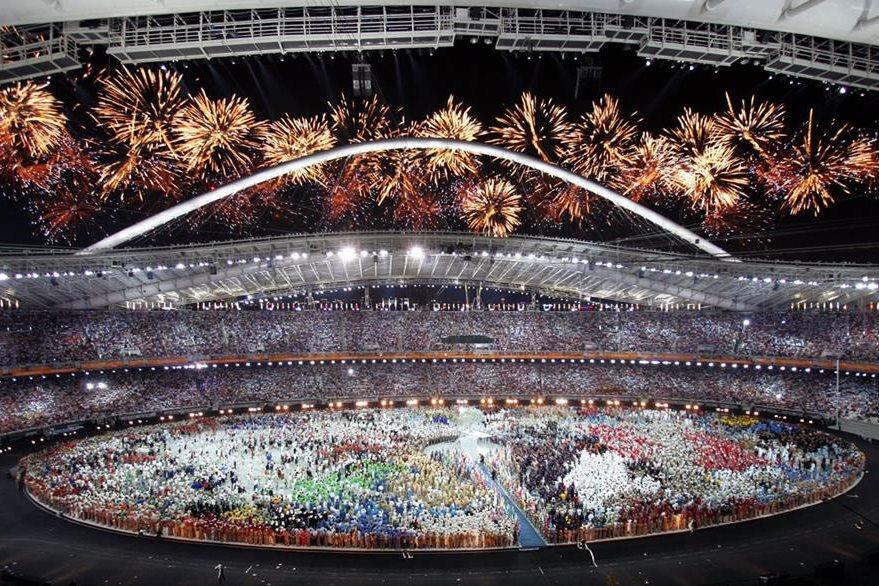 Estado Olímpico de Atenas durante la inauguración de los juegos de la XXVIII olimpiada. (Foto: AFP)