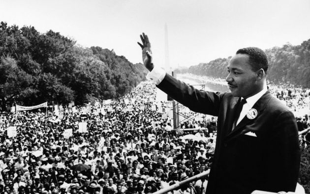 """Imagen emblemática del poderoso discurso """"I have a Dream"""" (yo tengo un sueño) del líder afroamericano Martin Luther King que ofreció el 28 de agosto de 1963 en Washington, D.C. En el discurso Luther King expresaba su anhelo de que blancos y negros pudieran coexistir en paz en los Estados Unidos. (Foto Prensa Libre: Wikipedia)."""