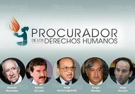 Los seis Procuradores de Derechos Humanos desde que se creó la figura en 1985. (Foto Prensa Libre: Archivo)