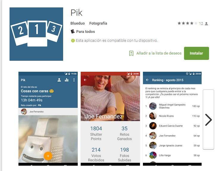 La aplicación Pik esta disponible de forma gratuita para los usuarios de Android. (Foto Prensa Libre: Hemeroteca PL).