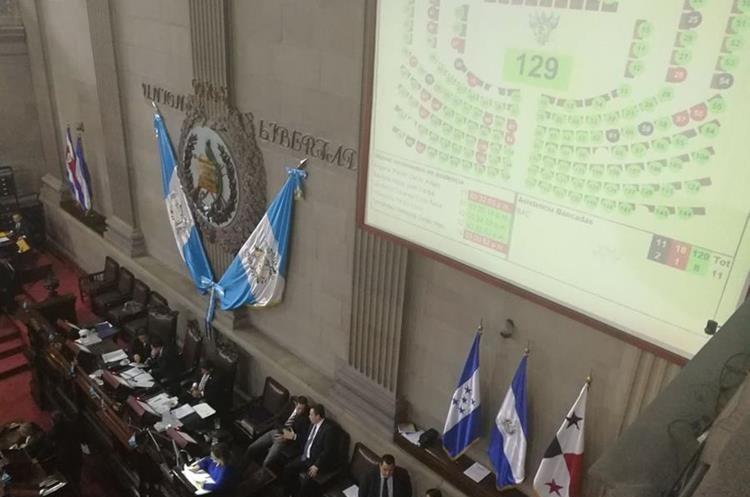 Solo 26 diputados votaron a favor de quitarle la inmunidad al presidente Jimmy Morales. (Foto Prensa Libre: Esbin García)