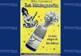 Anuncio de sidra hecha en Guatemala publicado en 1972. (Foto: Hemeroteca PL)