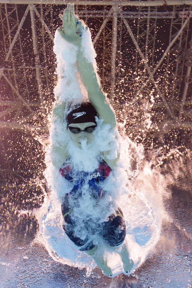 Ledecky ha ganado nueve medallas de oro en los mundiales de natación. (Getty)