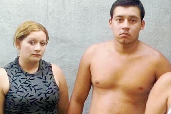 Glendy Yoniseth    Berganza Velásquez y Danilo Antonio Berganza Girón fueron capturados en Ipala, Chiquimula. (Foto Prensa Libre: Edwin Paxtor)