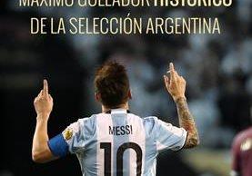 Messi hace historia con la selección 'Albiceleste'. (Foto Prensa Libre: Twitter Argentina)
