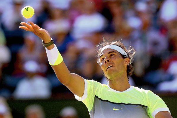 Rafael Nadal se prepara para disputar el Torneo de Miami. (Foto Prensa Libre: AFP).