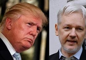Donald Trump pareció dar crédito a Julian Assange sobre los supuestos ciberataques de Rusia.