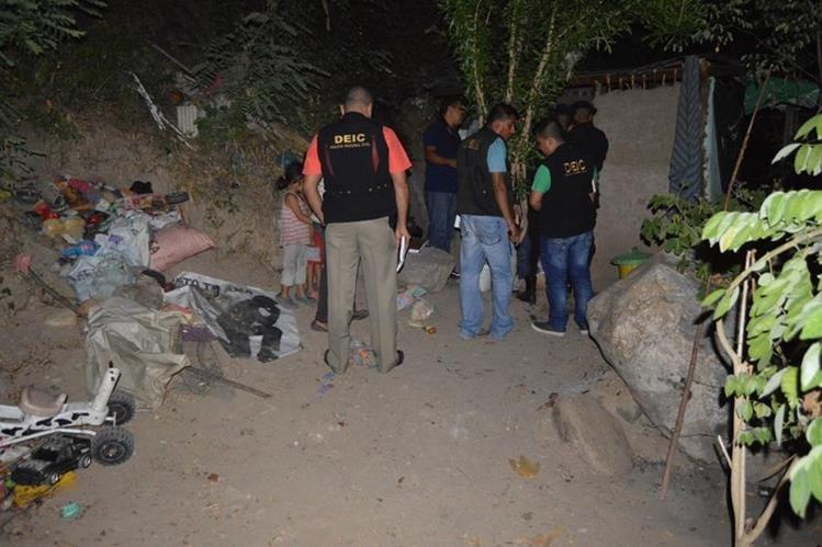 Lugar donde murió baleado Cesar Rolando Morales, en Zacapa. (Foto Prensa Libre: Víctor Gómez).