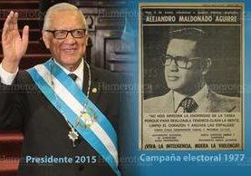 Maldonado Aguirre dijo ayer frase famosa que utilizó en campaña en 1977. (Fotoarte: Hugo Cuyán)
