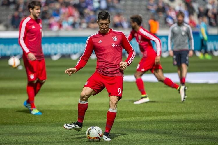 El polaco Robert Lewandowski analizó el partido del miércoles contra el Atlético de Madrid. (Foto Prensa Libre: AFP)