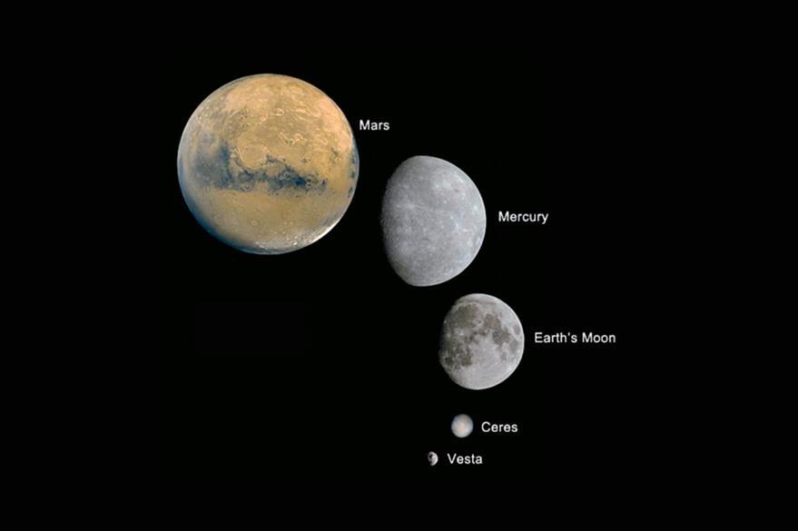 Ceres es   pequeño si se compara con otros planetas del Sistema Solar. (Foto Prensa Libre: Tomada de internet)