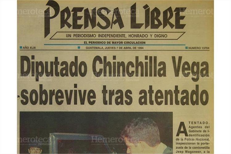 Portada de Prensa Libre del 7/4/1994.(Foto: Hemeroteca PL)