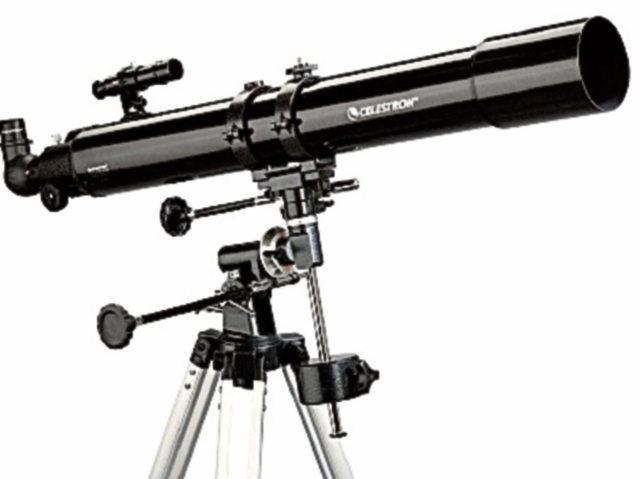 Telescopio refractor, 80 mm.