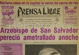 Titular de Prensa Libre del 25 de marzo de 1980. (Foto: Hemeroteca PL)