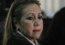 Exmagistrada de CSJ, Blanca Stalling, en la audiencia de primera declaración. (Foto Prensa Libre: Carlos Hernández)