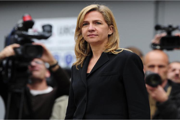 Cristina de Borbón, hermana del rey Felipe VI, ahora juzgada por presunto fraude fiscal.
