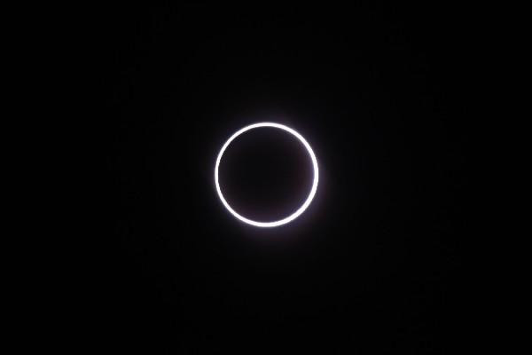 El eclipse se ha presenciado en el sur de África y parte de Brasil, Antártida, Indonesia, Australia y Canarias.(AFP).