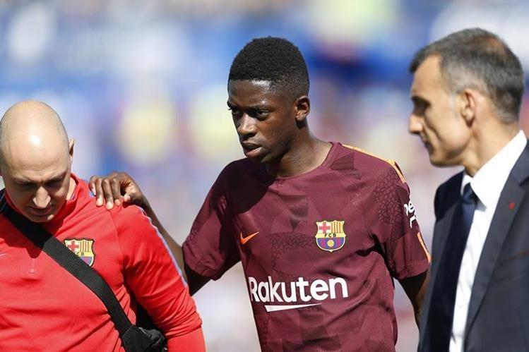 Dembélé sufrió lesión muscular en su primer partido como titular en Liga