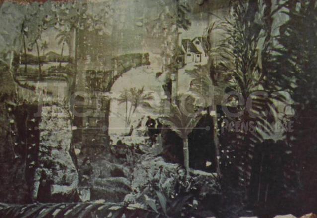 Nacimiento del maestro altarero Ramiro Araujo en la década de 1940. (Foto: Hemeroteca PL)
