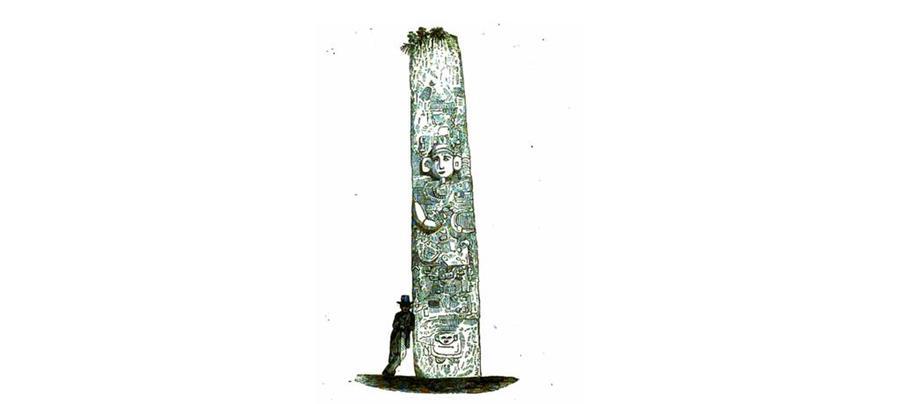 Los registros de Stephens son de los primeros realizados en las ruinas de Quiriguá. (Ilustración: Frederick Catherwood).