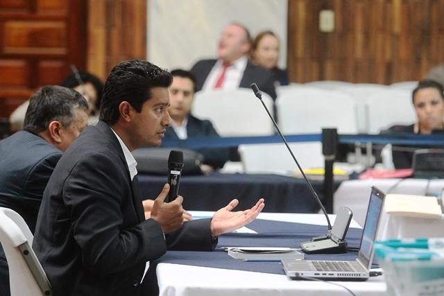 Rudy Gallardo, sindicado de asociación ilícita y cohecho pasivo, pide al juez medidas sustitutivas. (Foto Prensa Libre: Álvaro Interiano)