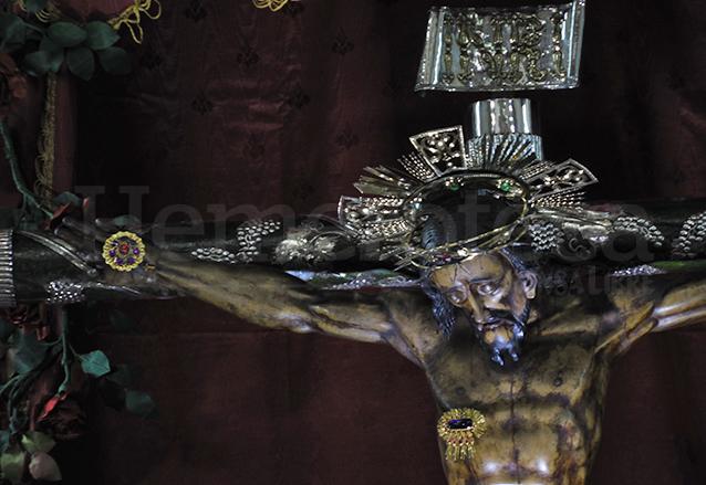 Imagen del Cristo de Esquipulas del Templo El Carmen que data de 1701. (Foto: Néstor Galicia).