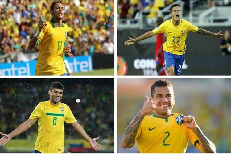 Neymar, Coutinho, Casemiro y Alves son algunas de las figuras de Brasil convocados para los partidos camino a Rusia 2018. (Foto redes).