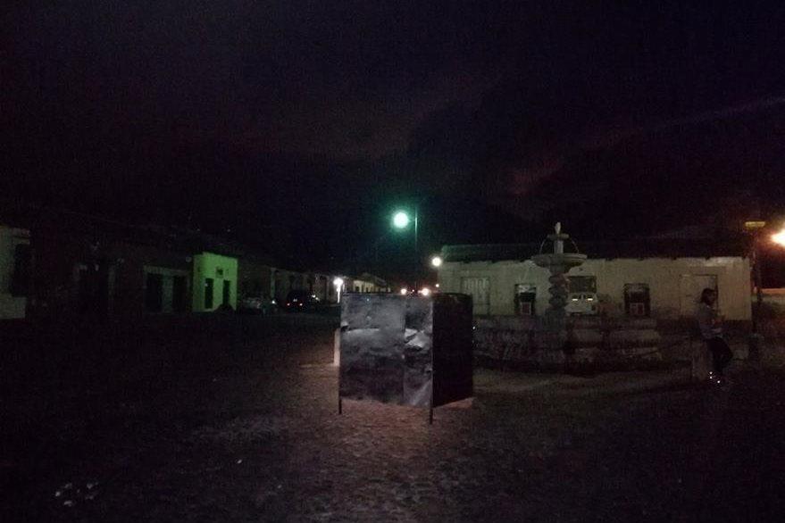 Lugar donde permanecía la imagen en la Antigua Guatemala. (Foto Prensa Libre:  Miguel López).