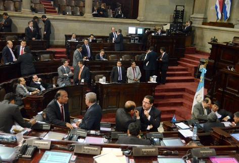 Sesión plenaria del Congreso. (Foto Prensa Libre)