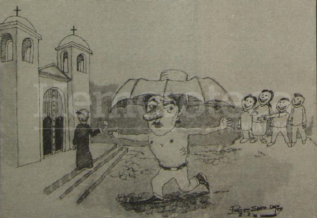 Ilustración del castigo de Juan Bayona impuesto porel Santo Oficio en 1772. (Foto: Hemeroteca PL)