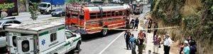 Bus atacado en San Lucas. (F. CBMD).