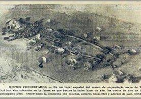 Restos encontrados en una tumba en el sitio arqueológico Tikal. (Foto: Hemeroteca PL)