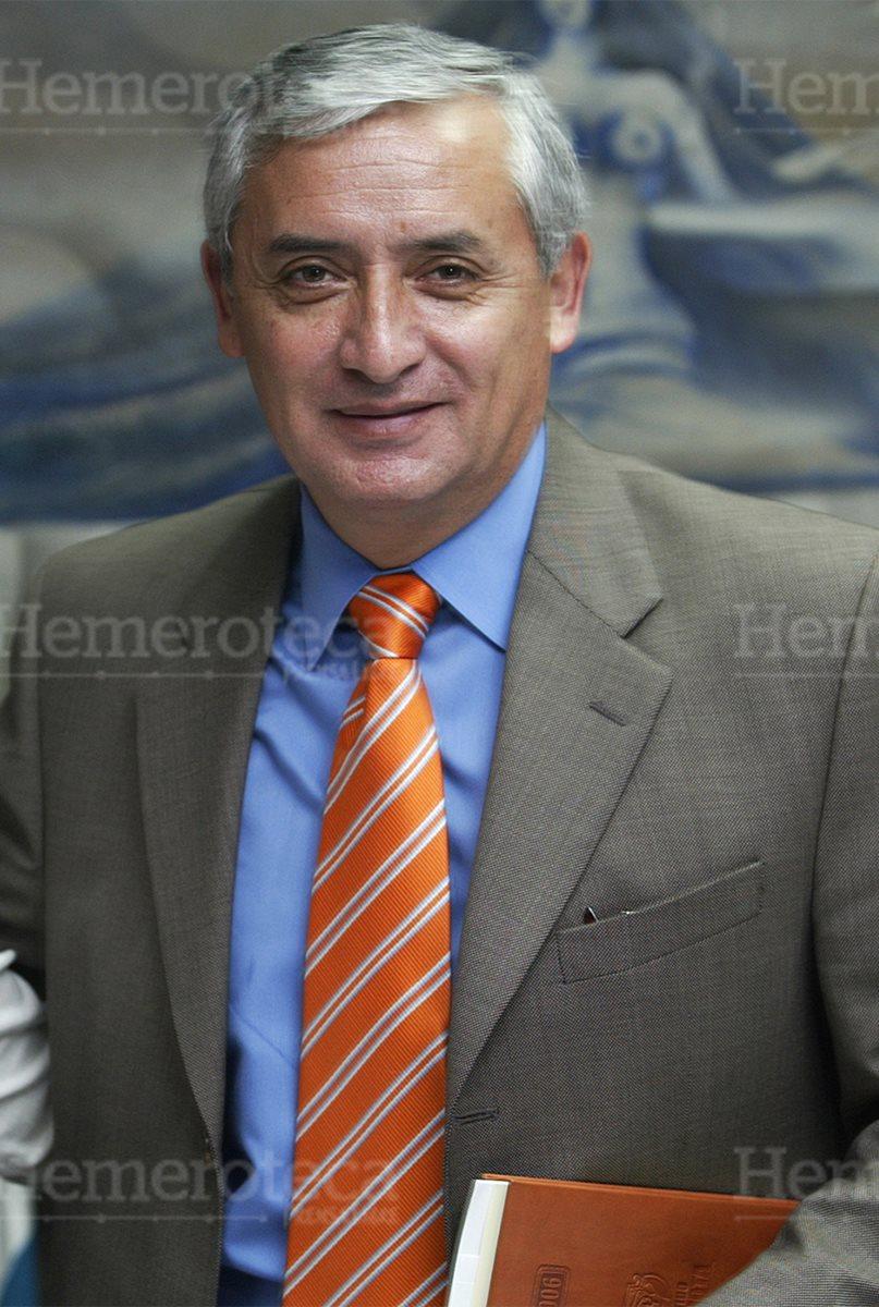 Otto Pérez Molina, diputado patriotista en 2006, y luego presidente del país en 2012. Renunció en el 2015. (Foto: Hemeroteca PL)