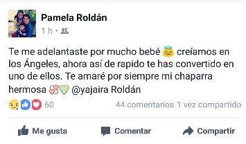 Pamela Roldán lamentó la muerte de su hermana Yajaira. En su página de Facebook se despidió con un emotivo mensaje. (Foto Prensa Libre: Facebook)