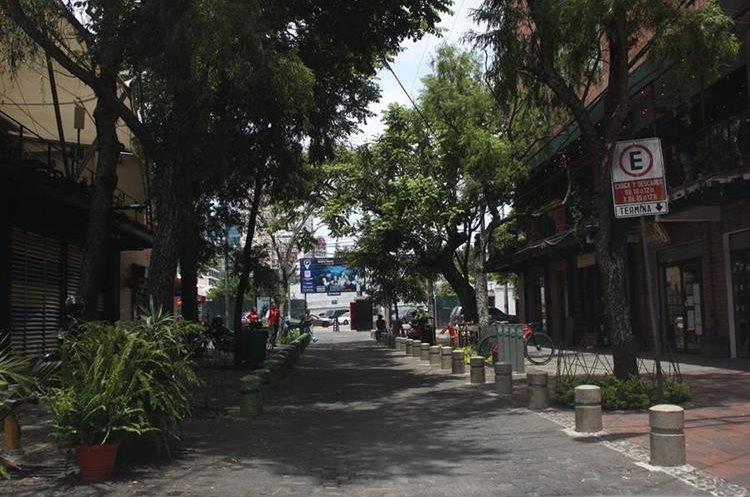 En Cuatro Grados Norte muchas personas salen a caminar con sus mascotas y visitan los restaurantes. (Foto Prensa Libre: Eduardo González)