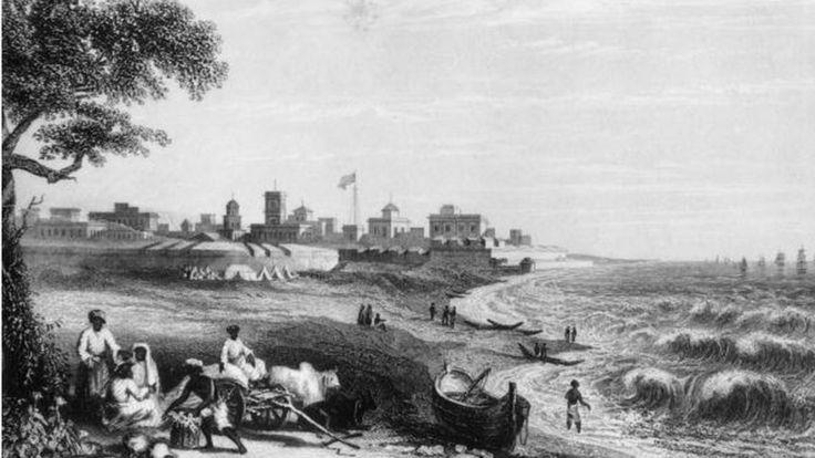La ciudad de Madrás, en India, fue fundada por la East India Company. HULTON ARCHIVE