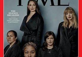 La portada de Time con imagen de los famosos que denunciaron acoso. (Foto Prensa Libre: EFE)