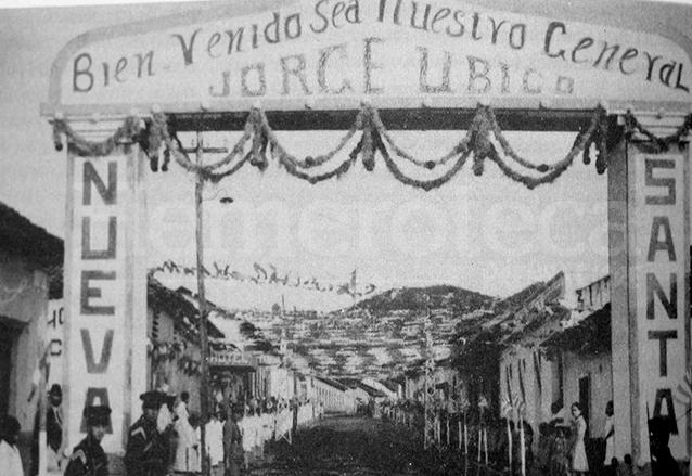 Para las giras presidenciales, el dictador era recibido con algarabía en los pueblos por los que pasaba. (Foto: Hemeroteca PL)